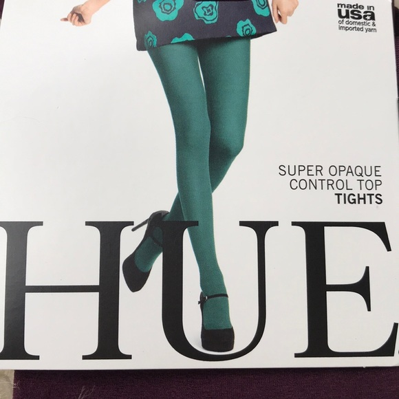 4042cdf53 HUE Super Opaque Control Tops Tights Burgundy sz 1